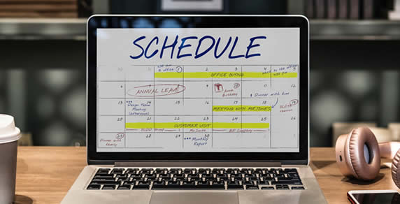 Schedule, on Laptop