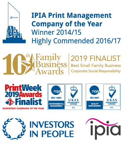 Some of the awards and accreditations achieved by Systematic Print