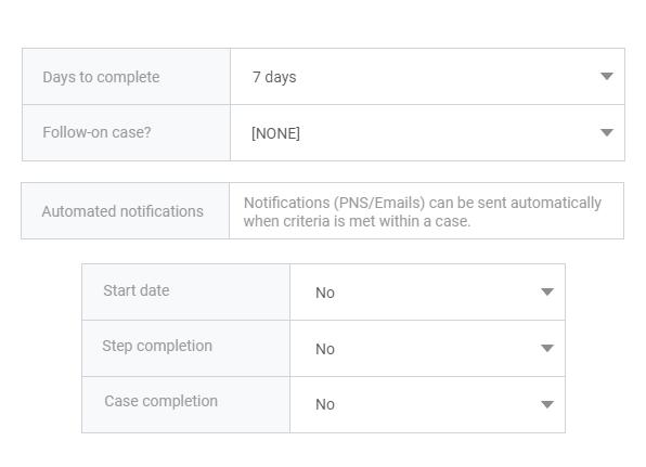 Build case workflows